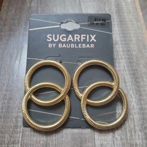 SUGARFIX BY BAUBLEBAR double hoop earrings